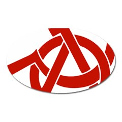Hammer Sickle Anarchy Magnet (oval)