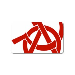 Hammer Sickle Anarchy Magnet (Name Card)