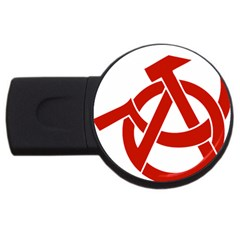 Hammer Sickle Anarchy 1GB USB Flash Drive (Round)