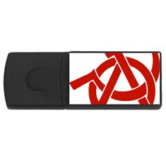 Hammer Sickle Anarchy 1GB USB Flash Drive (Rectangle)