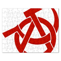 Hammer Sickle Anarchy Jigsaw Puzzle (rectangle)