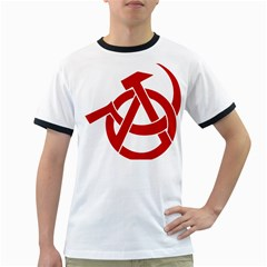 Hammer Sickle Anarchy Mens' Ringer T-shirt