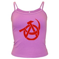 Hammer Sickle Anarchy Spaghetti Top (Colored)
