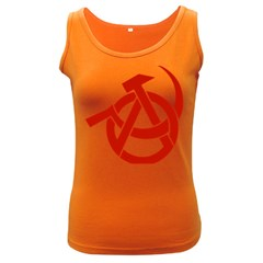 Hammer Sickle Anarchy Womens  Tank Top (Dark Colored)