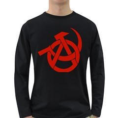 Hammer Sickle Anarchy Mens' Long Sleeve T-shirt (Dark Colored)