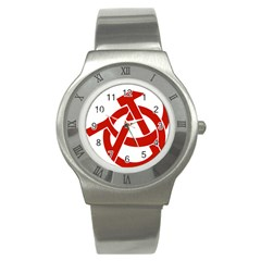 Hammer Sickle Anarchy Stainless Steel Watch (Unisex)