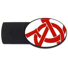 Hammer Sickle Anarchy 4GB USB Flash Drive (Oval)