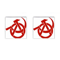 Hammer Sickle Anarchy Cufflinks (Square)