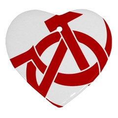 Hammer Sickle Anarchy Heart Ornament (Two Sides)