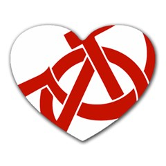 Hammer Sickle Anarchy Mouse Pad (Heart)