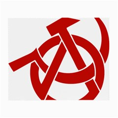 Hammer Sickle Anarchy Glasses Cloth (small, Two Sided)