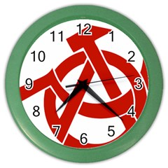 Hammer Sickle Anarchy Wall Clock (color)