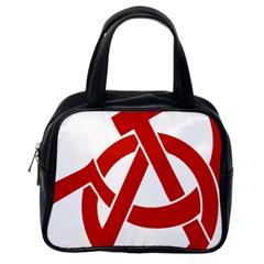 Hammer Sickle Anarchy Classic Handbag (one Side)