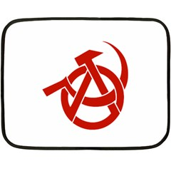 Hammer Sickle Anarchy Mini Fleece Blanket (Two Sided)