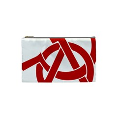 Hammer Sickle Anarchy Cosmetic Bag (small)