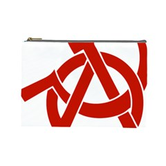 Hammer Sickle Anarchy Cosmetic Bag (Large)