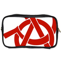 Hammer Sickle Anarchy Travel Toiletry Bag (One Side)