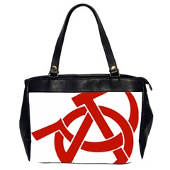 Hammer Sickle Anarchy Oversize Office Handbag (Two Sides)