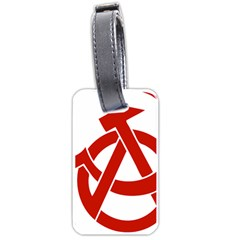 Hammer Sickle Anarchy Luggage Tag (Two Sides)
