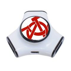 Hammer Sickle Anarchy 3 Port USB Hub