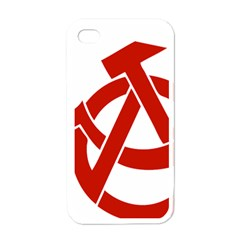 Hammer Sickle Anarchy Apple iPhone 4 Case (White)