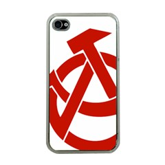 Hammer Sickle Anarchy Apple Iphone 4 Case (clear)