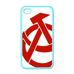 Hammer Sickle Anarchy Apple iPhone 4 Case (Color)