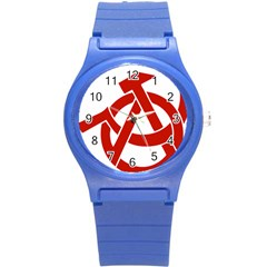 Hammer Sickle Anarchy Plastic Sport Watch (small)