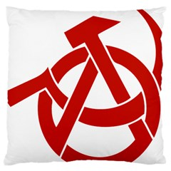 Hammer Sickle Anarchy Large Cushion Case (Two Sided)