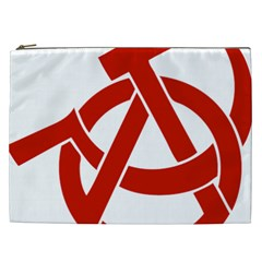 Hammer Sickle Anarchy Cosmetic Bag (XXL)