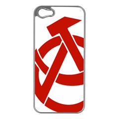 Hammer Sickle Anarchy Apple Iphone 5 Case (silver)