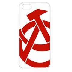 Hammer Sickle Anarchy Apple iPhone 5 Seamless Case (White)