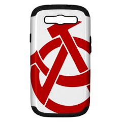 Hammer Sickle Anarchy Samsung Galaxy S Iii Hardshell Case (pc+silicone)