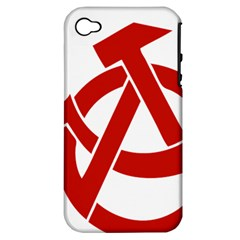 Hammer Sickle Anarchy Apple iPhone 4/4S Hardshell Case (PC+Silicone)