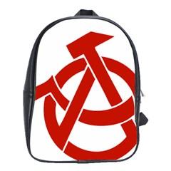 Hammer Sickle Anarchy School Bag (XL)