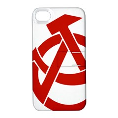 Hammer Sickle Anarchy Apple iPhone 4/4S Hardshell Case with Stand