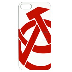 Hammer Sickle Anarchy Apple iPhone 5 Hardshell Case with Stand