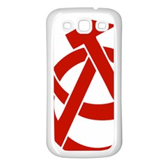 Hammer Sickle Anarchy Samsung Galaxy S3 Back Case (White)