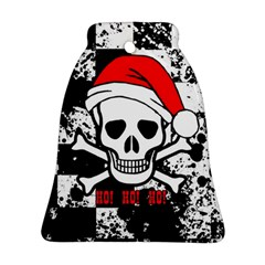 Skull Santa Bell Ornament