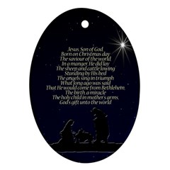 Reason for the season Oval Ornament (Two Sides)