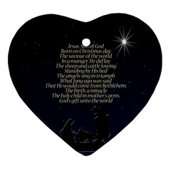 Reason For The Season Heart Ornament (two Sides)