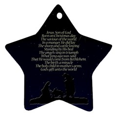 Reason for the season Star Ornament (Two Sides)