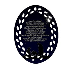Reason for the season Oval Filigree Ornament (Two Sides)