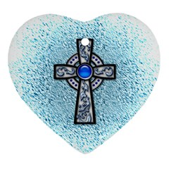 Cross Heart Ornament (Two Sides)