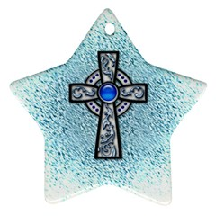 Cross Star Ornament (Two Sides)