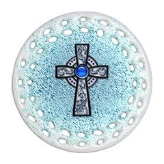 Cross Round Filigree Ornament