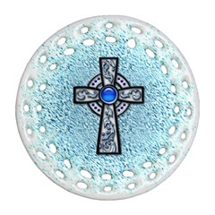 Cross Round Filigree Ornament (Two Sides)