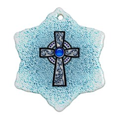 Cross Snowflake Ornament (Two Sides)