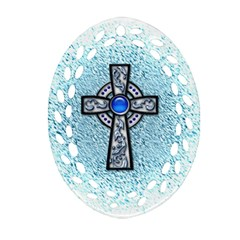 Cross Oval Filigree Ornament (Two Sides)