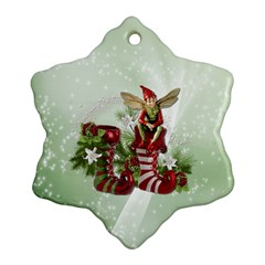Feeling Elfy Snowflake Ornament (two Sides)